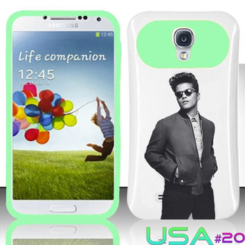 USA Design #20 - Samsung Galaxy S4 Glow in Dark Case # Bruno Mars Art @ Cover for Galaxy S4 i9500 Case