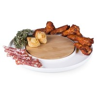 SheilaShrubs.com: Island Cutting Board and Serving Tray - White/ Bamboo 947-02-505-000-0 by Picnic Time: Cutting Boards