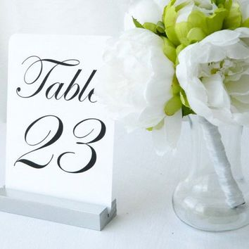 Table Number Holder, 5 inch, Set of 10, For Weddings, Restaurants, Banquets, SILVER, by Gallery360Designs