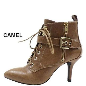 Natalia Lace Up Booties