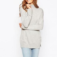 ASOS | ASOS Tunic With High Neck In Cashmere Blend at ASOS