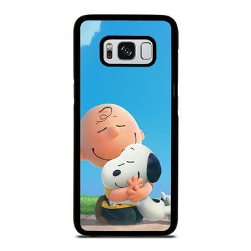 snoopy and charlie brown the peanuts samsung galaxy s3 s4 s5 s6 s7 edge s8 plus note 3 4 5 8  number 2