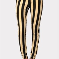Conviction Stripe Jean - Black/Beige at Necessary Clothing