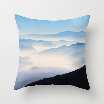 Inhale Throw Pillow by Mixed Imagery