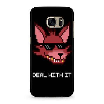 Five Nights At Freddy Fnaf Foxy Deal With It Samsung Galaxy S7 Case
