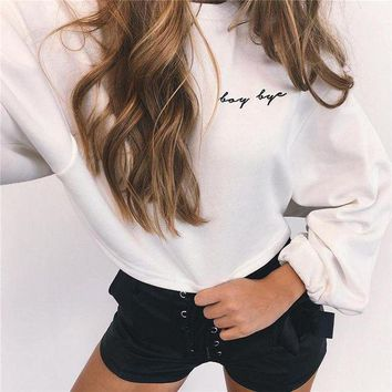 Winter Long Sleeve White Sweater Top
