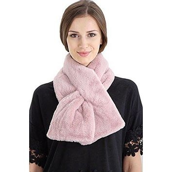 Women's Puffy Faux Fur Wrap Scarf, Shrug