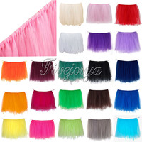 21 Colors Tulle Tutu Table Skirt Tulle Tableware for Wedding Decoration Baby Shower Party Wedding Table Skirting Home Textile
