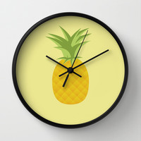 Pineapple Wall Clock by Brittcorry