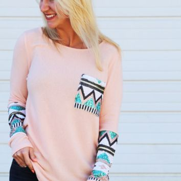 Sequin Glam Knit {Peach}