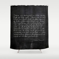 Shower Curtain - Theodore Roosevelt Quote - Nature Quote - Woodland - Farmhouse - Cabin Decor - Cottage - Rustic Shower Curtain
