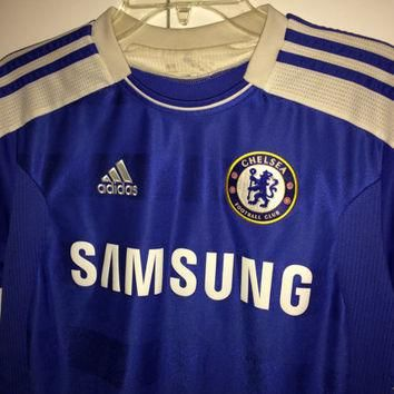 Sale!! Vintage Adidas Chelsea Fc soccer Jersey CFC England Football shirt Size Medium