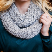 Instant Crush Infinity Scarf - Grey