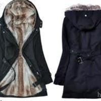 Women's Fur Winter With Faux Fur Ling Long Coat Outerwear Parka