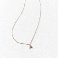 Rhinestone Initial Necklace | Urban Outfitters