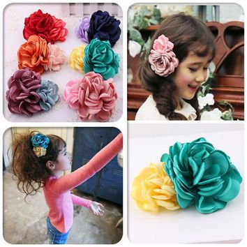 Flower Girl Kids Hairpin Hair Clip Bobby Pins Barrette Style Accessories For Head Hair Ornaments Hairgrip Hairclip Tiaras ST-4