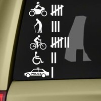 Funny Hit Accident Count Vinyl Sticker Decal Off Road Car Sticker For Jeep Ford