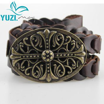 New Vintage Women Leather Belt Genuine Cow skin Handmade Curved Buckle Belts For Women Accessories