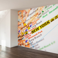 New York Map Wall Mural Decal