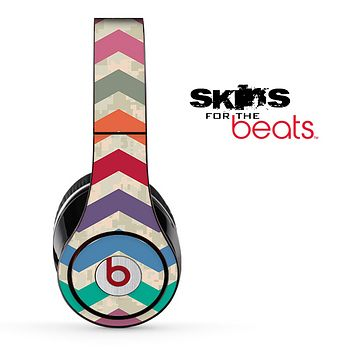 Vintage Color Chevron Pattern with Digital Camo Skin for the Beats by Dre Solo, Studio, Wireless, Pro or Mixr