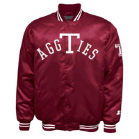 Texas A&M Aggies Starter Vintage Snap Satin Jacket - Maroon