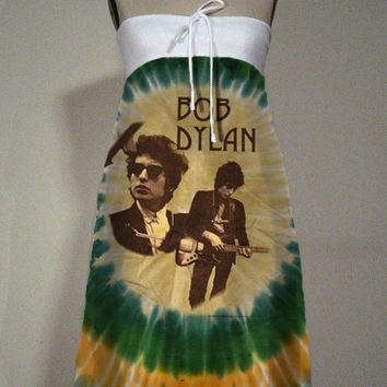 Bob Dylan Tie Dye Strapless Tube Dress