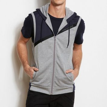 A|X Active Angled Vest         -                Knit Tops         -                Mens                       - Armani Exchange