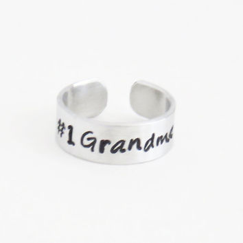 Number 1 grandma ring - Gift for grandmother - Mother's Day gift for granny - Grammy birthday gift birthday present for grandmama