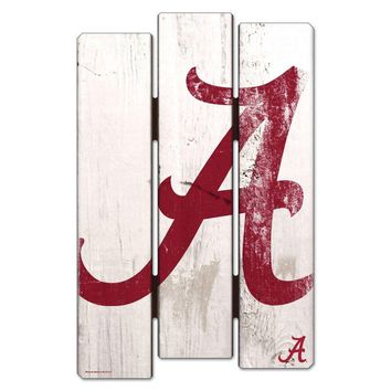 "ALABAMA CRIMSON TIDE FENCE WOOD SIGN 11""X17'' BRAND NEW  SHIPPING WINCRAFT"
