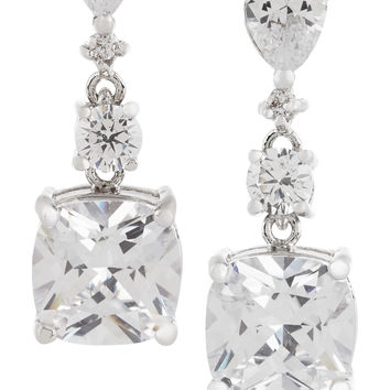 Kenneth Jay Lane - Rhodium-plated cubic zirconia earrings