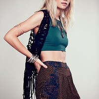 Free People Womens Mixed Print Short