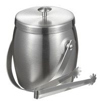 Visol Symon Stainless Steel Double Wall Ice Bucket with Tongs