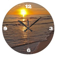 Clock: Sunset by the Beach Wall Clock