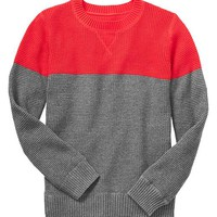 Gap Boys Factory Colorblock Waffle Knit Sweater