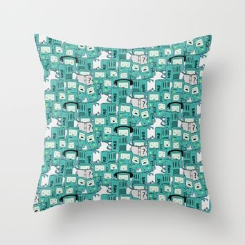 BMO patterns Throw Pillow by Berwies