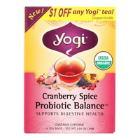 Yogi Tea - Organic - Cranberry Spice Probiotic Balance - 16 Bags - Case Of 6