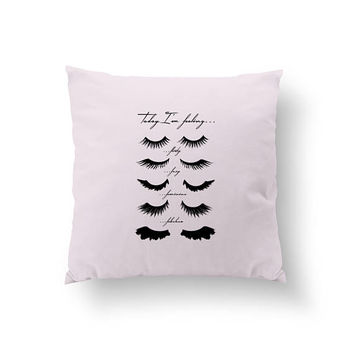 Eye Lashes Pillow, Home Decor, Decorative Pillow, Cushion Cover, Throw Pillow, Bedroom Decor, Modern Pillow, Bed Pillow, Gold Lashes Pillow