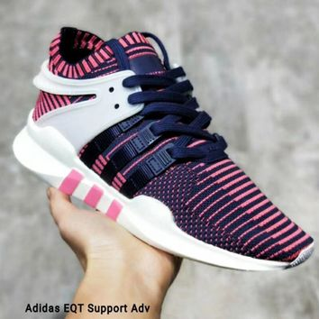 Adidas EQT Support Adv Knitted running shoes Women Men Fashion Sneakers B-MDTY-SHINING Pink