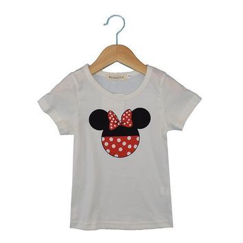 2017 new summer Kids mickey mouse Clothing aby Boys clothes Child Fashion Gentleman short sleeve t shirt for boys girls tops