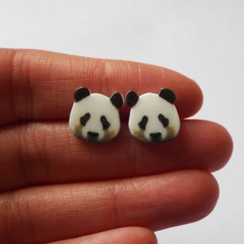Panda Bear Earrings Fun Novelty Gift