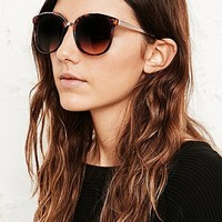 Jukebox Metal Arm Sunglasses In Tortoiseshell - Urban Outfitters