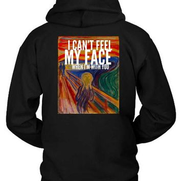 DCCKG72 The Weeknd I Cant Feel My Face When I Am With You Illustrations Hoodie Two Sided