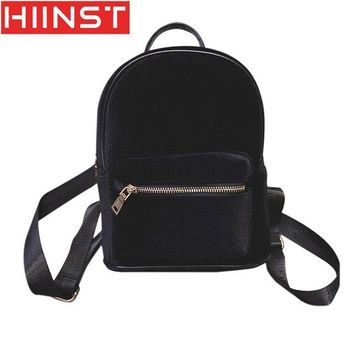 University College Backpack HIINST Female Zipper New Korean Fashion Gold Velvet Shoulder Bag Wild  Casual Bag Casual Tote  Famous Brand MAY10AT_63_4