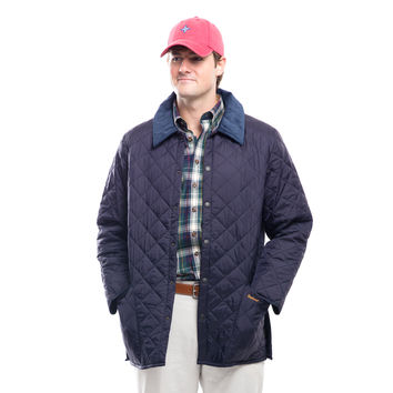 Barbour® Men's Navy Quilted Liddesdale Jacket
