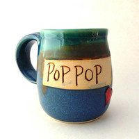 Pop Pop Handmade Pottery Mug by Jewel Pottery ceramics and pottery
