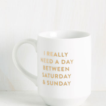 Open Weekend-ed Question Mug | Mod Retro Vintage Kitchen | ModCloth.com