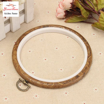 Three size Wood Plastic Frame Embroidery Hoop Ring Circle Round Loop For cross Stitch Hand DIY Needlecraft Household sewing Tool