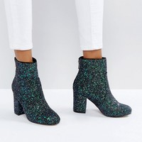 New Look Cosmic Glitter Heeled Ankle Boot at asos.com