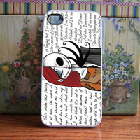 jack and sally nightmare before quote for iPhone and Samsung galaxy case (available for iPhone 6 case)