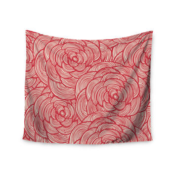 "KESS Original ""Roses"" Pink Red Wall Tapestry"